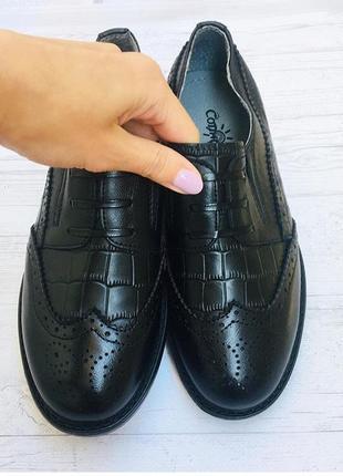 Полностью кожаные туфли оксфорды