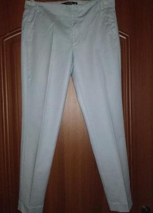 Классические небесно-голубые узкие брюки до щиколотки zara basic vietnam zara
