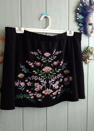 Красивая юбка с вышивкой большого размера 22 uk