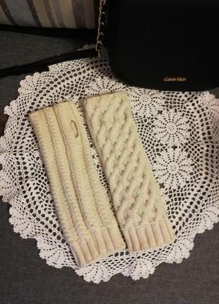 Митенки/ варежки/перчатки шерсть ручная работа