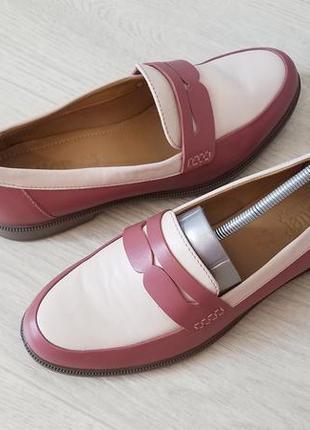 Hotter comfort concept кожаные женские туфли  лоферы . стелька 25см.