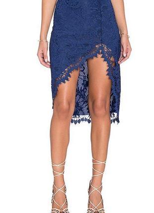 Шикарная юбка for love & lemons из ажурной ткани и с асимметричным подолом