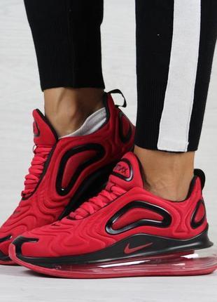 Шикарные женские кроссовки nike air max 720 красные