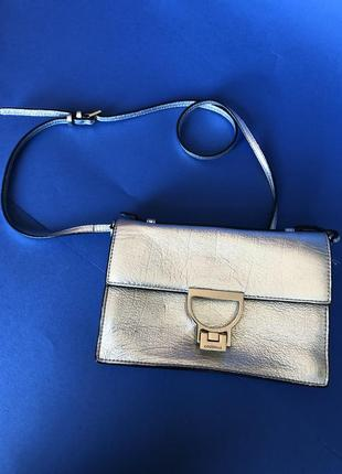 Серебряная сумка coccinelle!