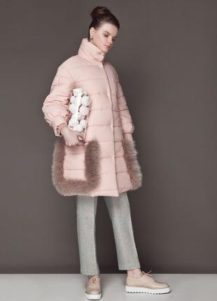 Пальто женское anna yakovenko мех лисы