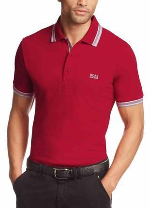 Поло/тенниска hugo boss paddy polo red/white