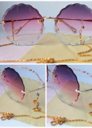 Красивые очки с цепью1 фото