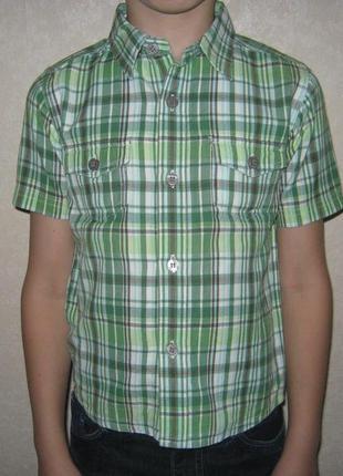 Лёгкая летняя рубашка в клетку  m&co  рост 98