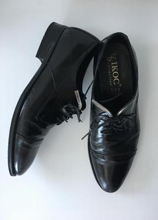 Кожаные лаковые туфли, мужские туфли