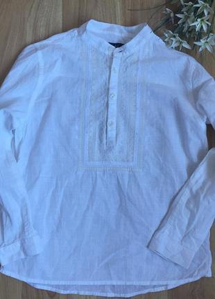 Фирменную рубашку next (2018 г) малышу 5-6 лет состояние отличное.