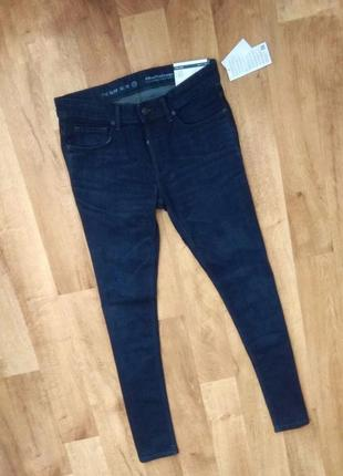Новые с бирками, мужские брендовые джинсы (slim), тёмно синего цвета , размер 33/32,