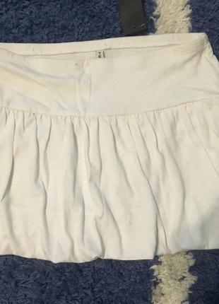 Летняя белая короткая юбка