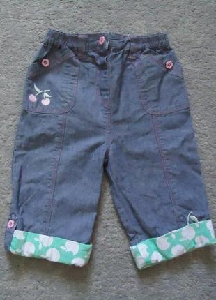 Детские джинсовые бриджи/штаны на возраст 1-1,5 года (рост 80-86 см) от бренда tu