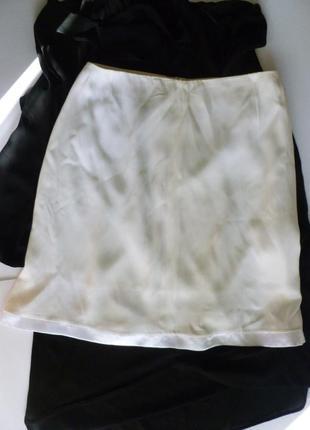 Стильная шелковистая юбка дорогой бренд maska италия хороший размер и фасон трапеция