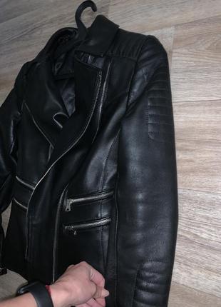 Кожаная куртка balmain3 фото