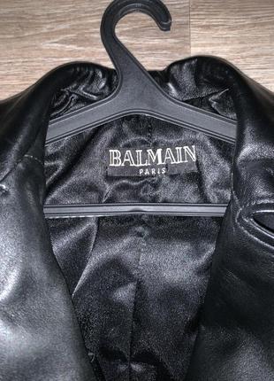 Кожаная куртка balmain4 фото