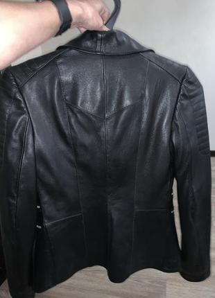 Кожаная куртка balmain5 фото