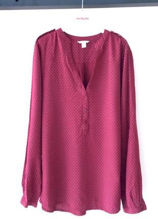 Новая блузка в горох германия esprit рубашка 100% вискоза
