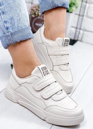 Белые кроссовки, кеды р.36,40 маломерят