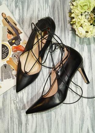 🌿40🌿navy boot. кожа. роскошные туфли лодочки с актуальной шнуровкой
