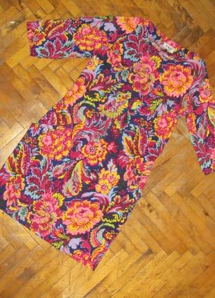 Платье яркий цветочный принт