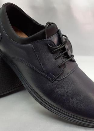Распродажа!весенние комфортные синие туфли,мокасины rondo 40,42,44р