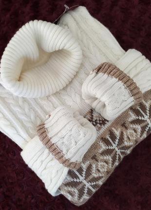Норвежский свитер платье в косы