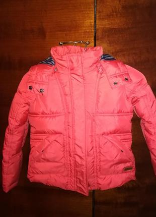 Тёплая курточка для маленькой модницы