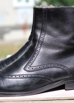 Эксклюзивные кожаные ботинки на цигейке davos 43-44