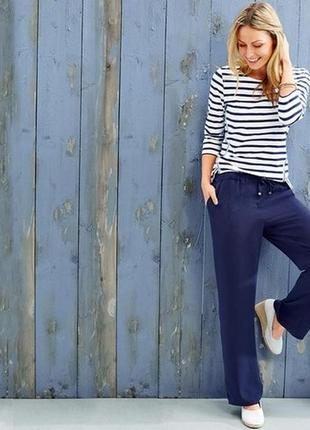 Широкие однотонные брюки tchibo, германия - эффектный выбор для офиса и отдыха