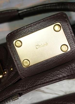 Chloe. оригинал. номерная. кожа. брендовая сумка10 фото