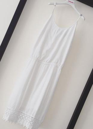 Богемное платье на бретелях selected femme белый сарафан