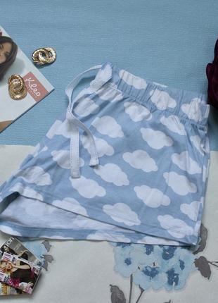 Домашние шортики голубые размер л /хл