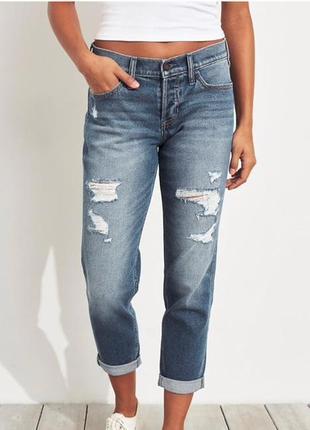 Новые джинсы бойфренды hollister. размер 13long или 31, хл размер.
