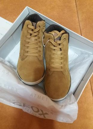 Замшевые демисезонные ботинки для мальчика джеокс geox  геокс 36 размер
