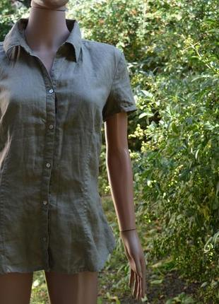 Льняная рубашка женская фирмы том тейлор.