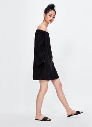 ‼️до 24.08 -20% на все‼️ сукня  / платье с открытыми плечами длинным рукавом и бантиками