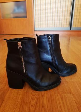 Продам ботинки кожаные на байке