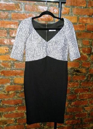 Стильное офисное платье футляр из костюмной ткани george