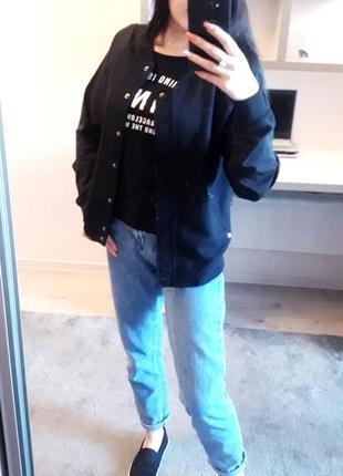 Only чёрная летняя куртка - бомбер