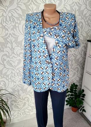 Базовый пиджак/ блейзер/ кардиган в принт