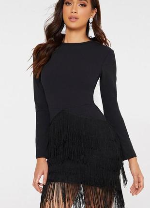 🆘розпродажа -50% -70 %🆘 до 1 октября!🆘  милое платье с бахромой и рукавами