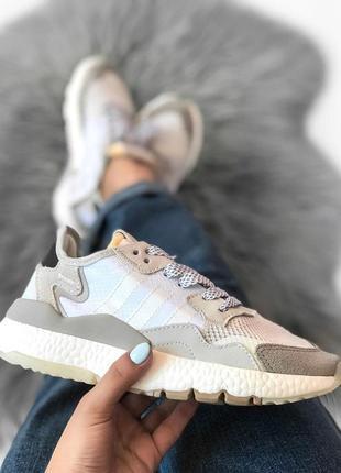 Шикарные кроссовки adidas в сером цвете из замши (весна-лето-осень)😍