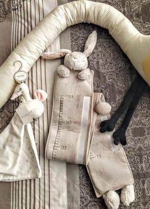 Бортик в кроватку ростомер игрушка комфортер для сна сплюшка