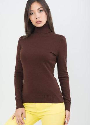Hallhuber водолазка/свитер/гольф цвета темного шоколада