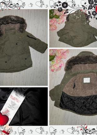 Куртка парка nutmeg (р.98 на 2-3года) курточка