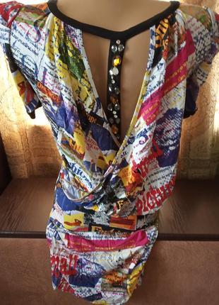 Новое платье-туника cinema donna с красивой спинкой р.36, наш 42-44