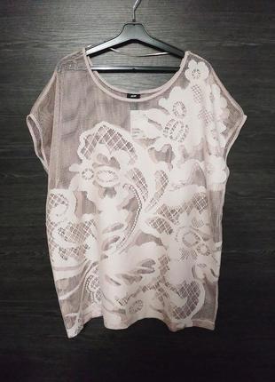 Пудровая пляжная блуза туника h&m.