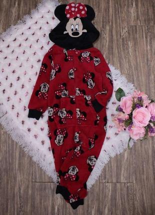 Флисовый ромпер пижама минни маус