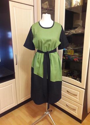Шикарное льняное платье